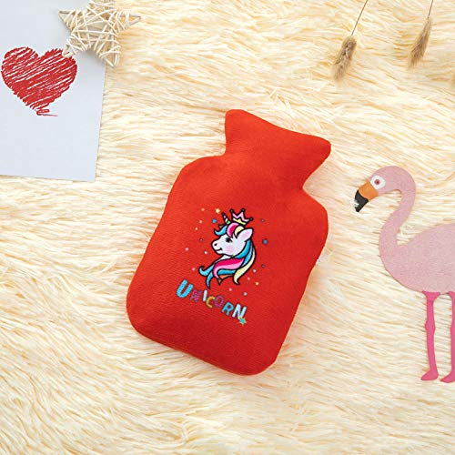Water injection hot water bottle hot water bottle autumn and winter warm cartoon pattern water injection@small von XDOUBAOhot Water Bag