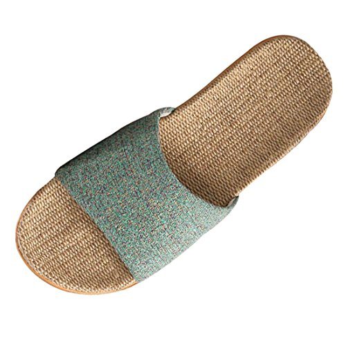 XINGYUE Flax Tatami Slippers No Slip Indoor Slippers Open Toe von XINGYUE
