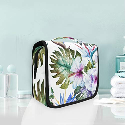 Make-up-Kosmetiktasche Art Flower Leaf Portable Storage Reise Kulturbeutel von XiangHeFu