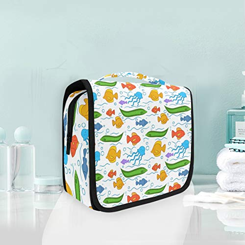Make-up Kosmetiktasche Happy Cartoon Fisch Portable Storage Reise Kulturbeutel von XiangHeFu