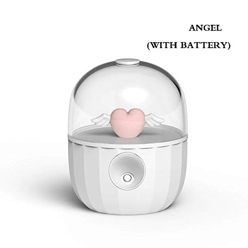 YHWW Luftbefeuchter,Cute Cartoon Doll Ultrasonic Air Humidifier Aroma Essential Oil Diffuser For Home Car USB Fogger Mist Maker Air Fresher,angel with battery von YHWW