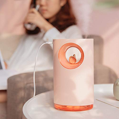 YHWW Luftbefeuchter,Music Air Humidifier Soothing Stress Relieve 400ML USB Aroma Essential Oil Diffuser Lamp Atomizer,Pink von YHWW