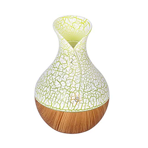 YHWW Luftbefeuchter,New USB Aroma Diffuser Mini Ultrasonic Air Humidifier Wood Grain Atomizer Aromatherapy Essential Oil Diffuser for Home Office,red von YHWW