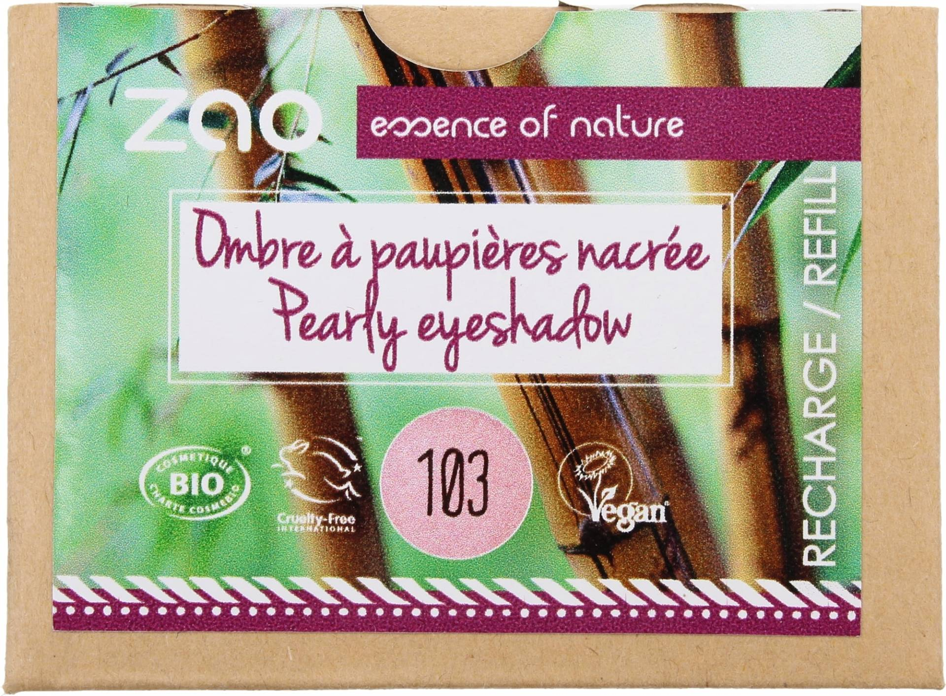 ZAO Refill Pearly Eyeshadow - 103 Old Pink von ZAO
