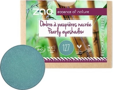 ZAO Refill Pearly Eyeshadow - 127 Peacock Blue von ZAO