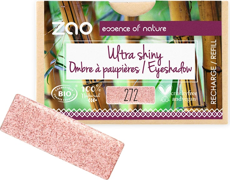 ZAO Refill Rectangle Eye Shadow - 272 Ultra Pearly Fairy Pink von ZAO