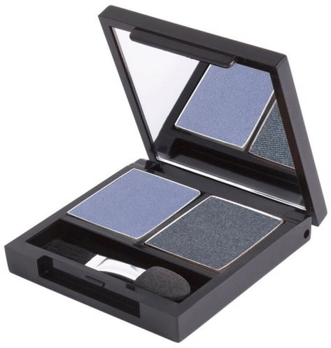 Certified Organic Flora Eye Shadow Palette Duo - Denim (vegan) von Zuii ORGANIC