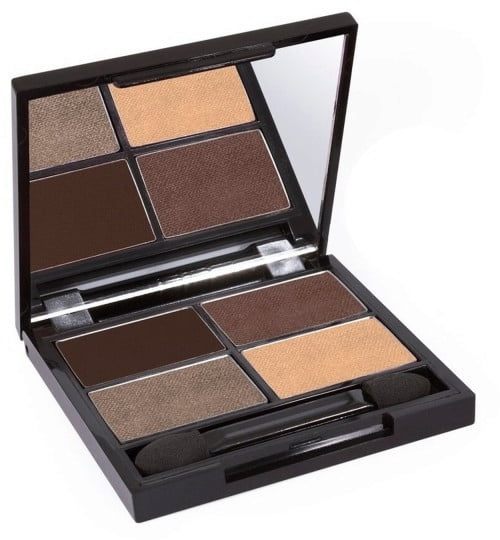 Certified Organic Flora Eye Shadow Palette Quad - Natural (vegan) von Zuii ORGANIC