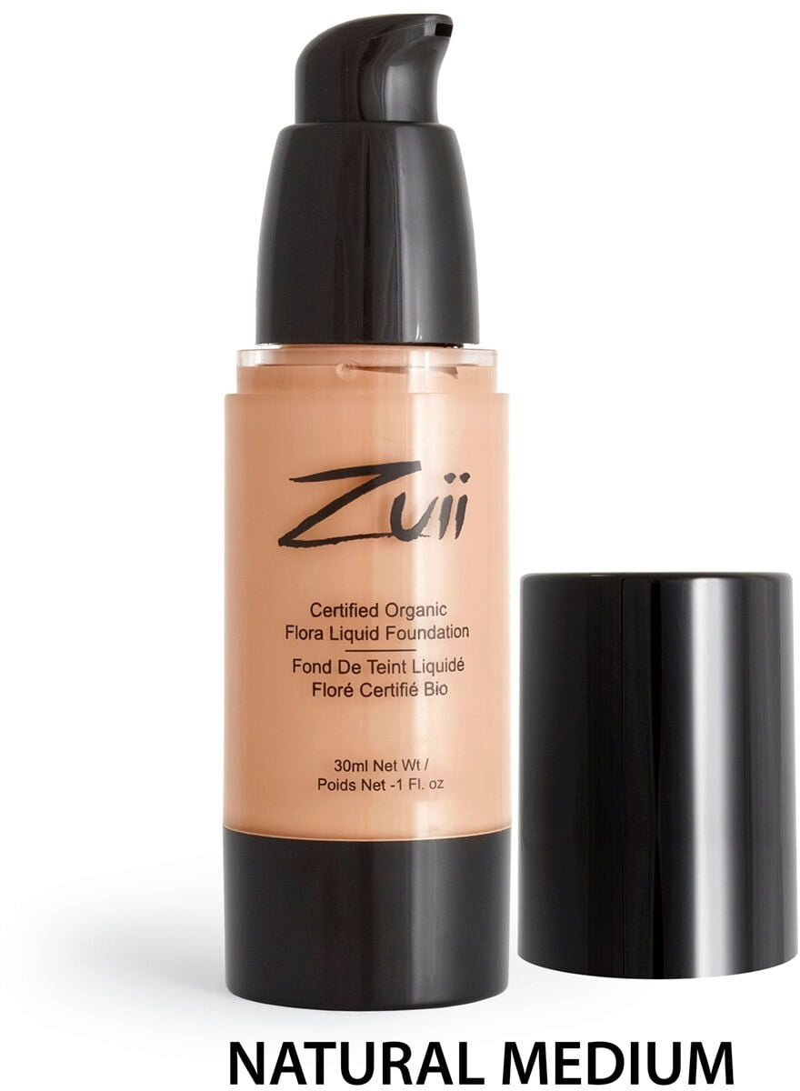 Certified Organic Flora Liquid Foundation - Natural Medium (vegan) von Zuii ORGANIC