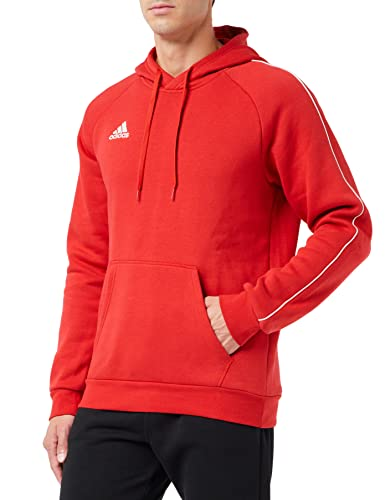 adidas Herren CORE18 Hoody Sweatshirt, Power red/White, 2XL von adidas