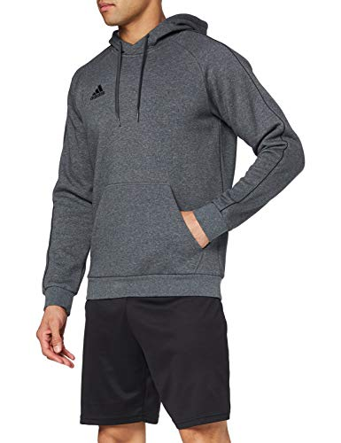 adidas Herren CORE18 Hoody Sweatshirt, Dark Grey Heather/Black, 3XL von adidas