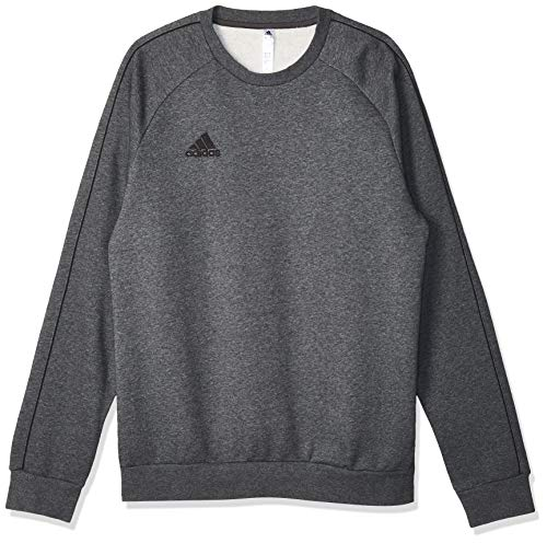 adidas Herren CORE18 Sweatshirt, Dark Grey Heather/Black, S von adidas