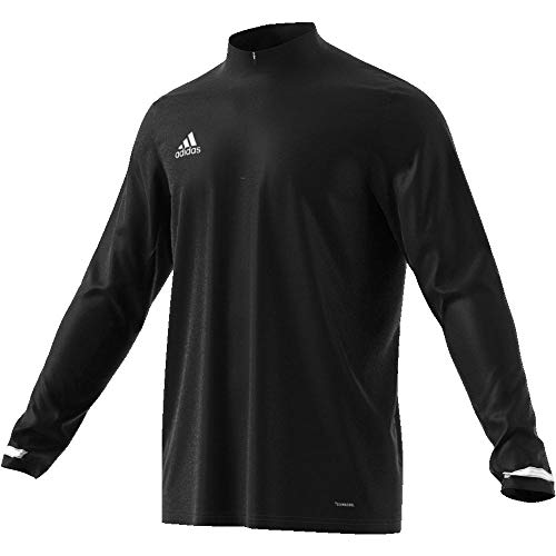adidas Herren T19 1/4 LS M Long Sleeved T-Shirt, Black/White, L von adidas