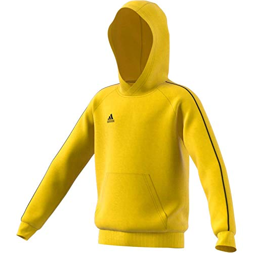 adidas Kinder Core 18 Hoody, yellow/Black, 2XL (Manufacturer size:176) von adidas