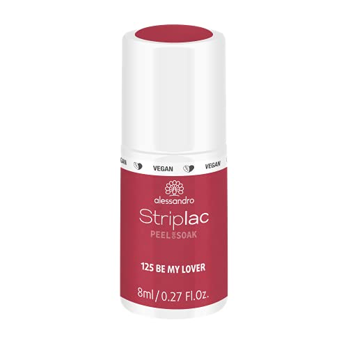 alessandro Striplac Peel or Soak Be my Lover – LED-Nagellack in dezentem Rot – Für perfekte Nägel in 15 Minuten – 1 x 8ml von alessandro