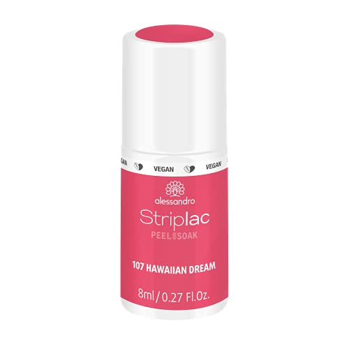 alessandro Striplac Peel or Soak Hawaiian Dream – LED-Nagellack in kräftigem Rosa – Für perfekte Nägel in 15 Minuten – 1 x 8ml von alessandro