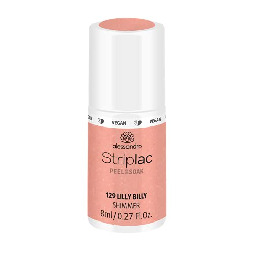 alessandro Striplac Peel or Soak Lilly Billy – LED-Nagellack in frischem Apricot – Für perfekte Nägel in 15 Minuten – 1 x 8ml von alessandro