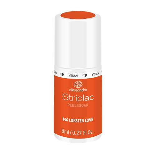 alessandro Striplac Peel or Soak Lobster Love - LED-Nagellack in Orange - Für perfekte Nägel in 15 Minuten, 8 ml von alessandro