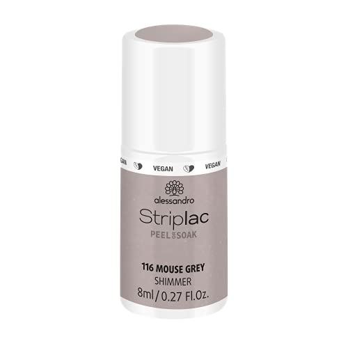 alessandro Striplac Peel or Soak Mouse Grey – LED-Nagellack in zartem Grau – Für perfekte Nägel in 15 Minuten – 1 x 8ml von alessandro