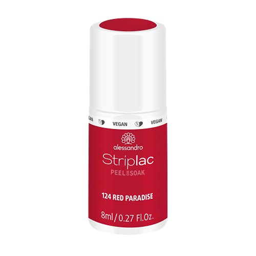 alessandro Striplac Peel or Soak Red Paradise – LED-Nagellack in dunklem Rot-Orange – Für perfekte Nägel in 15 Minuten – 1 x 8ml von alessandro