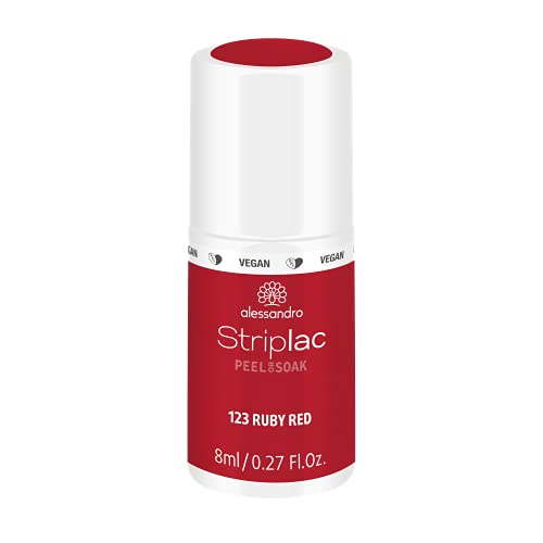 alessandro Striplac Peel or Soak Ruby Red – LED-Nagellack in Rot – Für perfekte Nägel in 15 Minuten – 1 x 8ml von alessandro