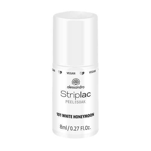 alessandro Striplac Peel or Soak White Honeymoon – LED-Nagellack in strahlendem Weiß – Für perfekte Nägel in 15 Minuten – 1 x 8ml von alessandro