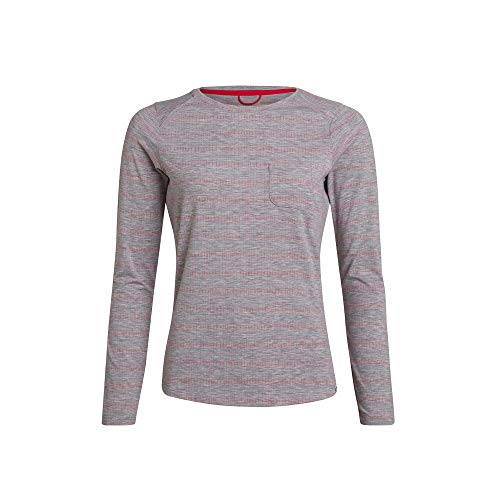 Berghaus Damen Explorer Optic Long Sleeve Crew Tech T-Shirt, Harbour Mist/Cayenne, 8 (34 DE) von berghaus