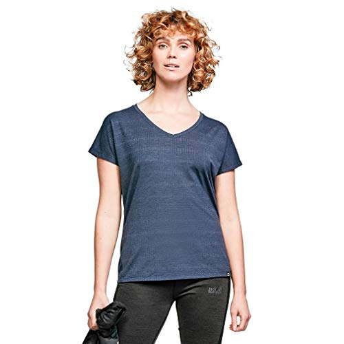 berghaus Damen T-Shirt Explorer Optic Short Sleeve Crew Tech, Dusk/Vintage Indigo, 20 (46 DE), 4A000879CV7 von berghaus
