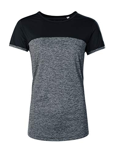 berghaus Damen Kurzarm-t-Shirt Technique 2.0, Carbon Marl/Jet Black, 2XL, 422188AX5 von berghaus
