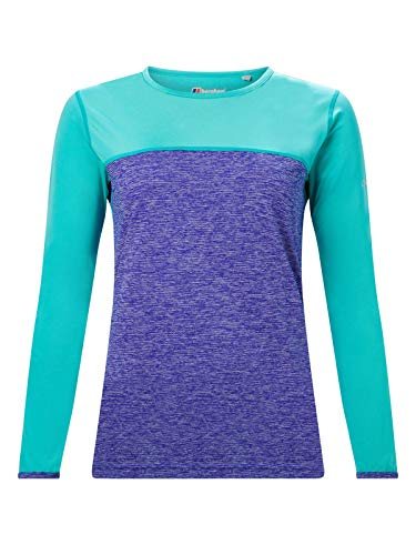 Berghaus Damen Voyager Tech T-Shirt, Spectrum Blue/Ceramic, 8 von berghaus