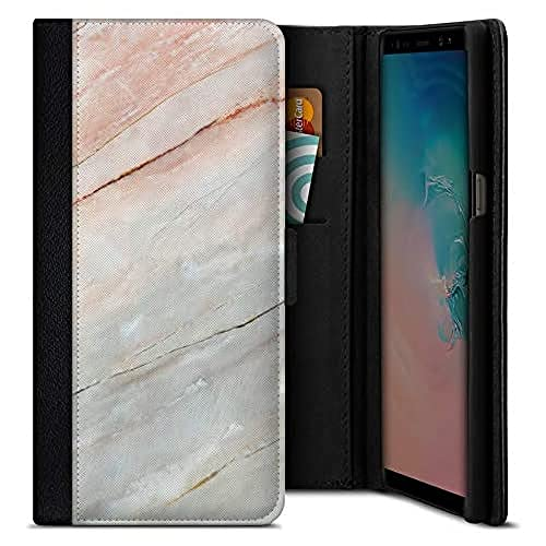 Smartphone Flip Case Mother of Pearl Marble Samsung Galaxy S9 von caseable GmbH