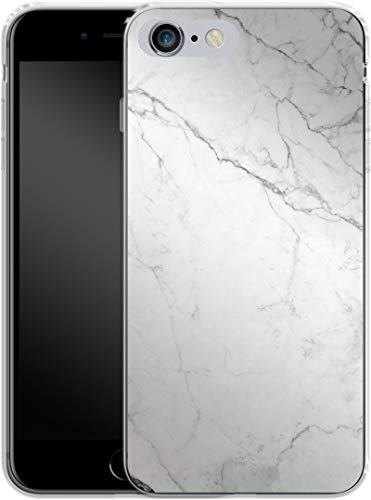 Smartphone Silikon Handyhülle White Marble Apple iPhone 6 Plus von caseable GmbH