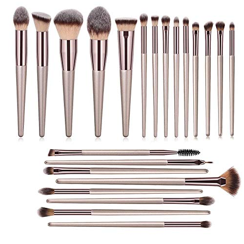 Make up Pinsel Make-up Pinsel Set Beauty 22 Stück Make-up Pinsel Puder Rouge Foundation Concealer Lidschatten Eyeliner Augenbrauen Champagner Pinsel von fangzhuo