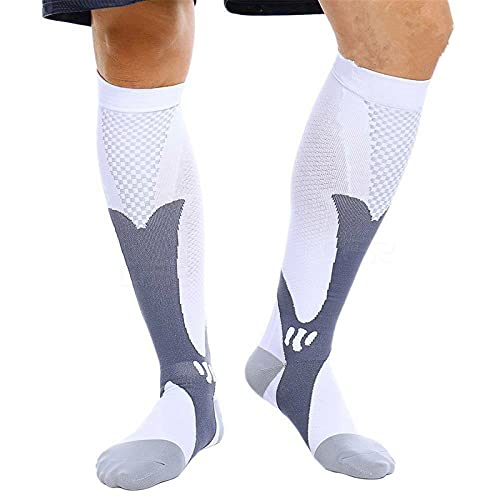 feifanshop Unisex Classic Kompressionsstrümpfe Sport Running Radsport Fußballsocken Kompressionssocken Compression Socks Strümpfe Kompression Laufsocken Knee High Football Socken von feifanshop