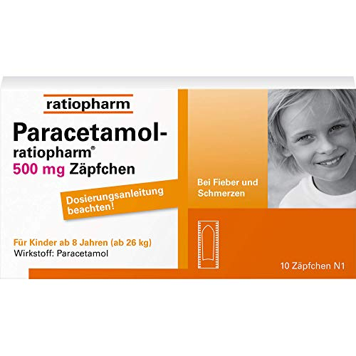PARACETAMOL ratiopharm 500 mg Kindersuppositorien 10 St von ratiopharm GmbH